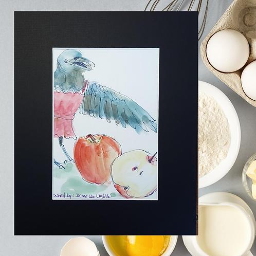 Recipe/Art card: Oatmeal Apple Squares by Jaime Lee Lightle