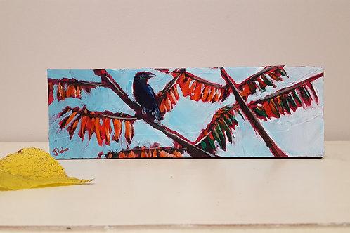 Crow on Fall Sumac by Jaime Lee Lightle