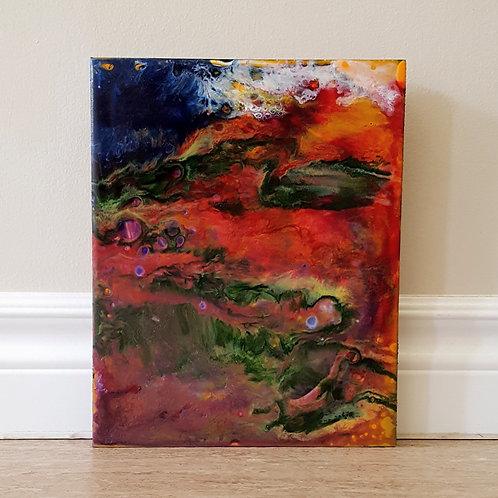 Lava Flowing into the Sea by James C E Lightle