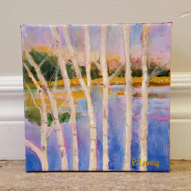 Birches by Water