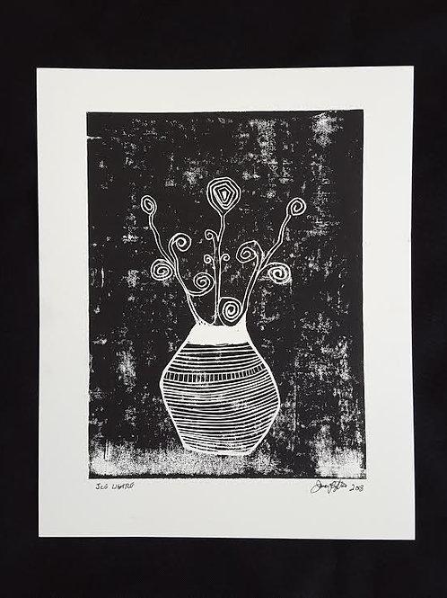 Still Life Flowers in Vase by James C E Lightle