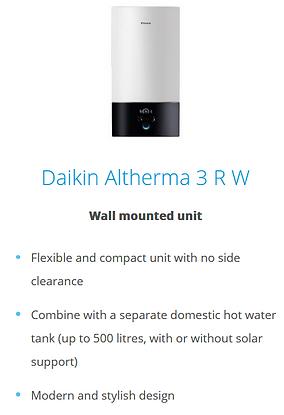 Daikin Altherma 3 Integrated