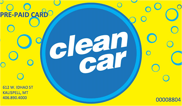 $55 Clean Car Pre-Paid Gift Card
