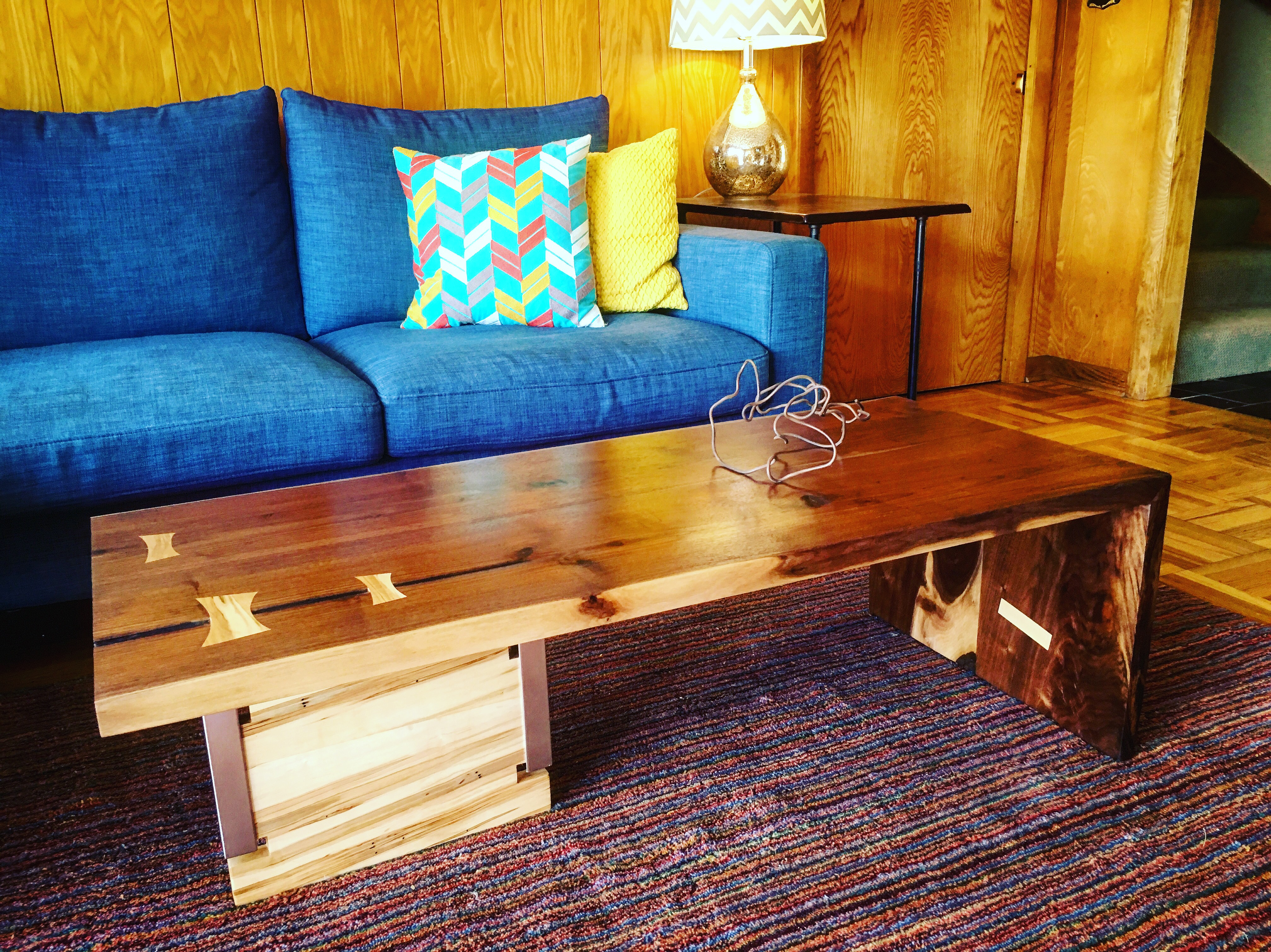 Black Walnut Waterfall Coffee Table