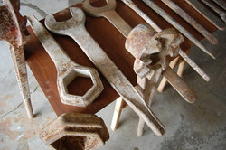 Large Scale Antique Foundry Wrenches