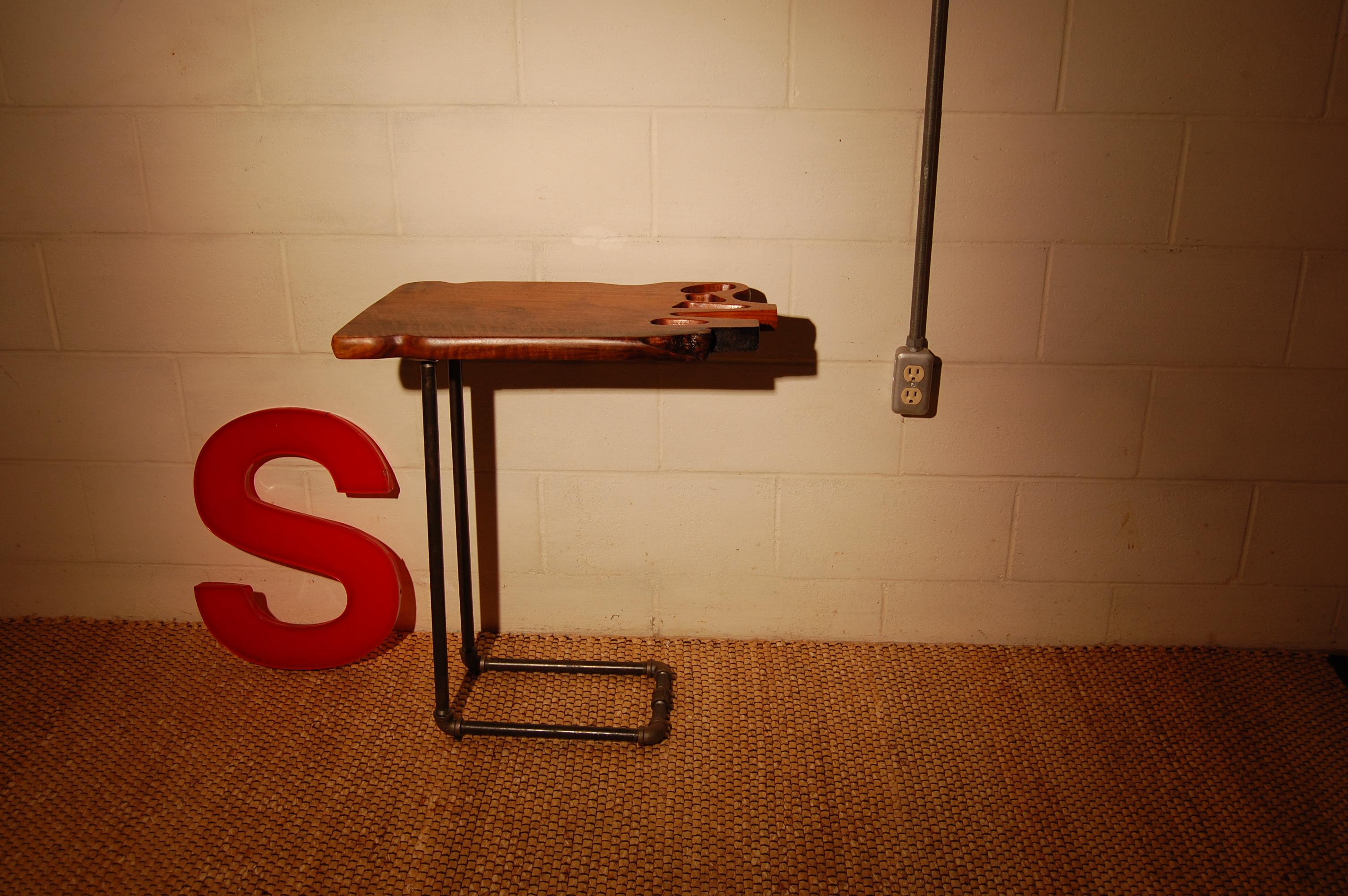 Walnut Salon Side Table