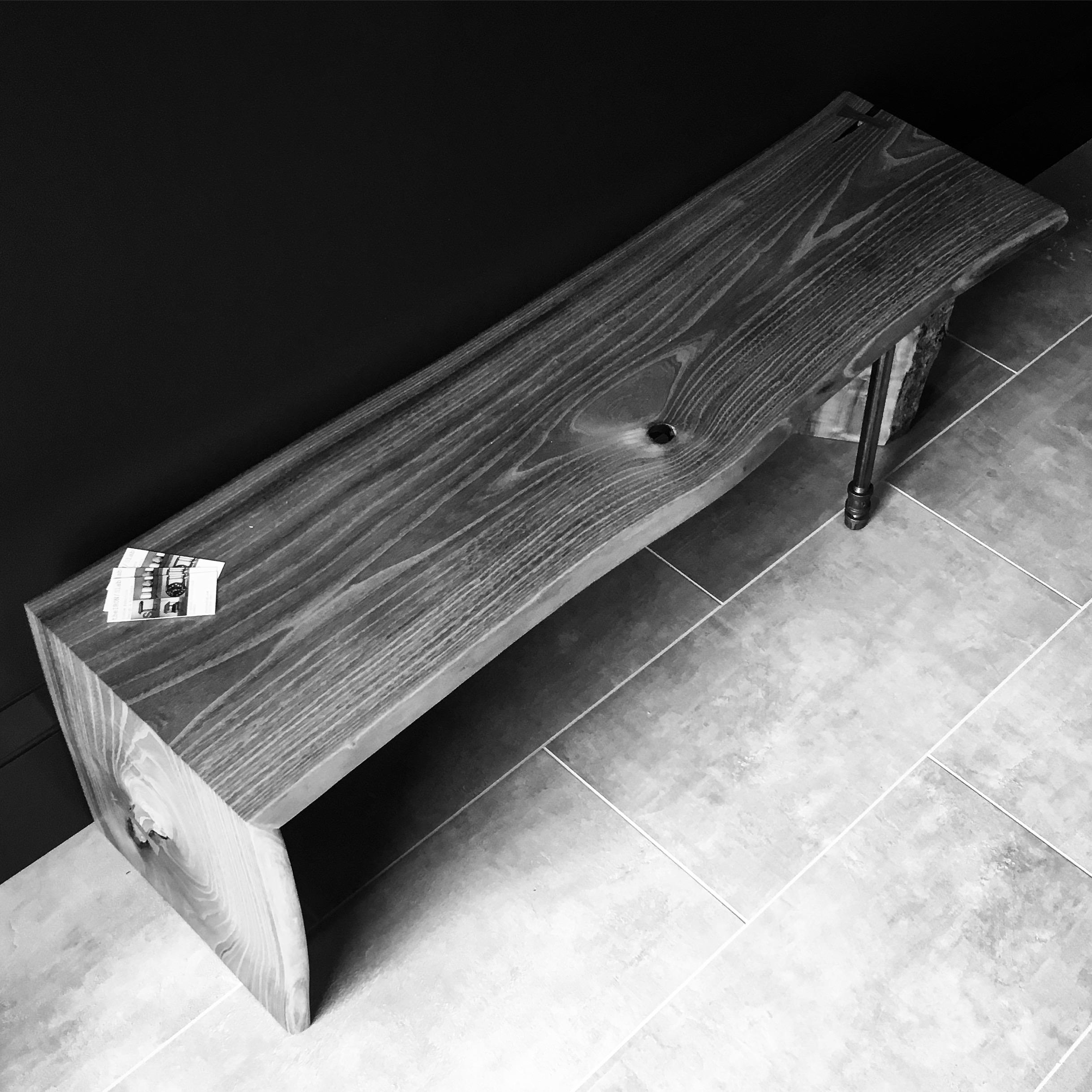 Maple Slab Waterfall Table