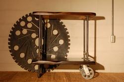 Industrial Bar Cart