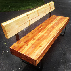 Reclaimed Industrial Beam Bench