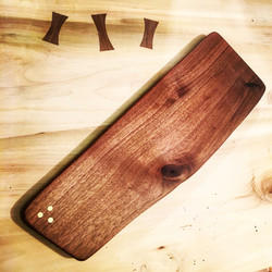 Serving Board with Brass Inlays