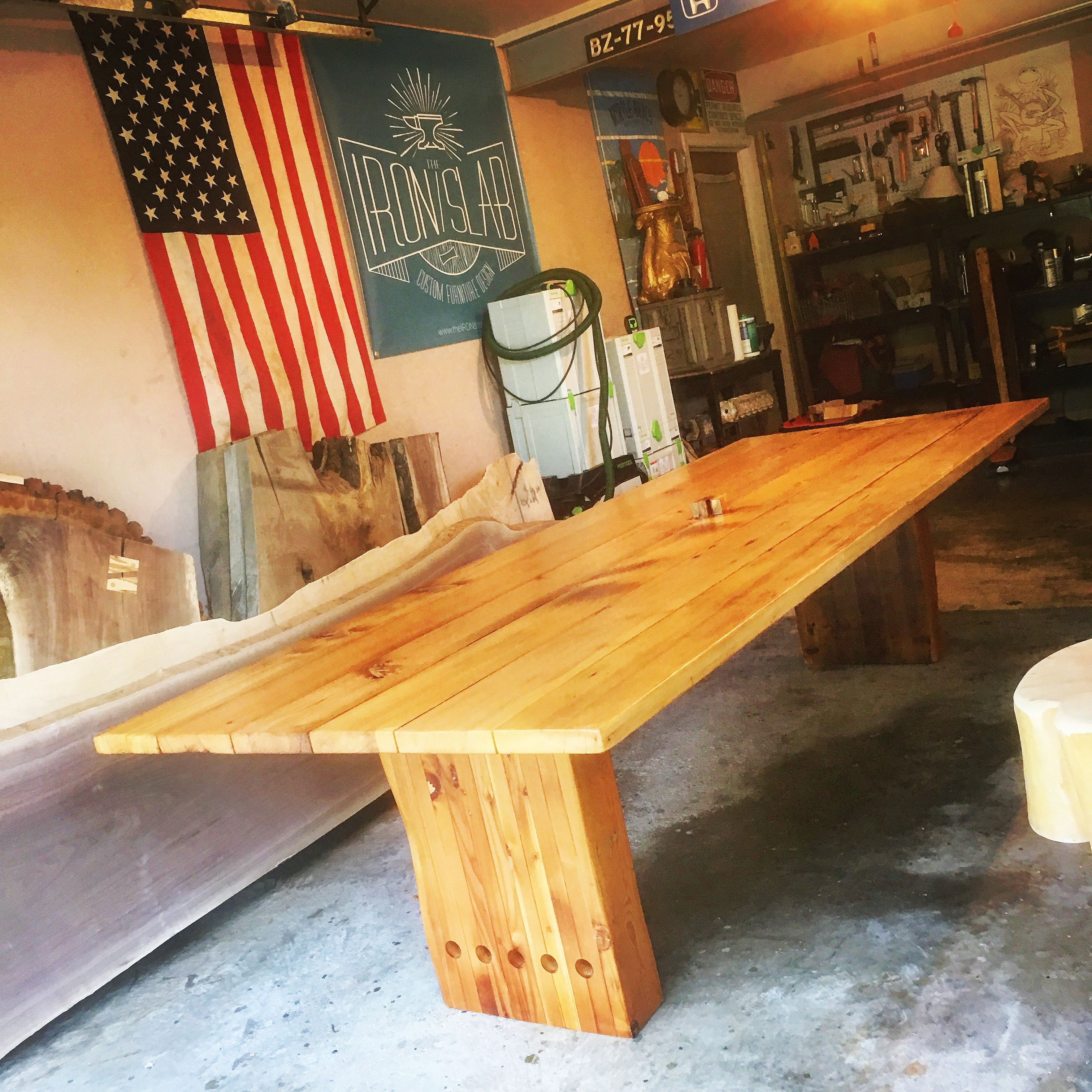 Reclaimed Cedar Outdoor Dining Table