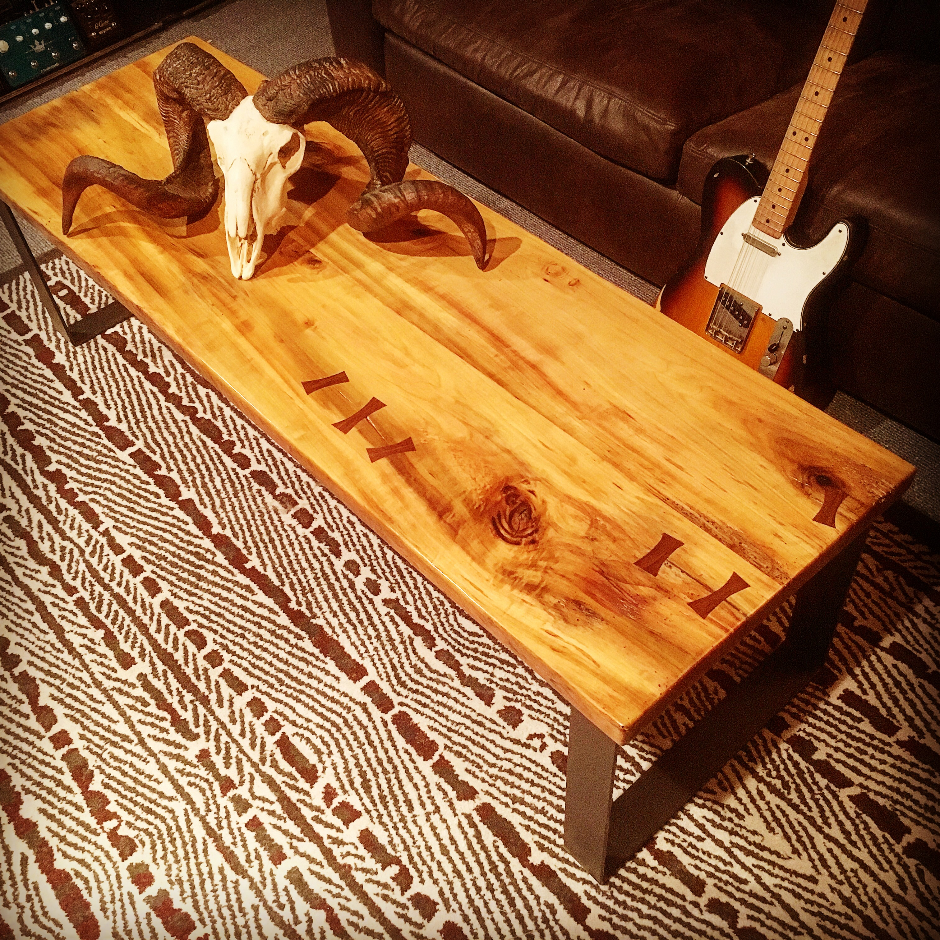 Poplar and Black Walnut Coffee Table