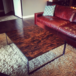 Birch Industrial Coffee Table