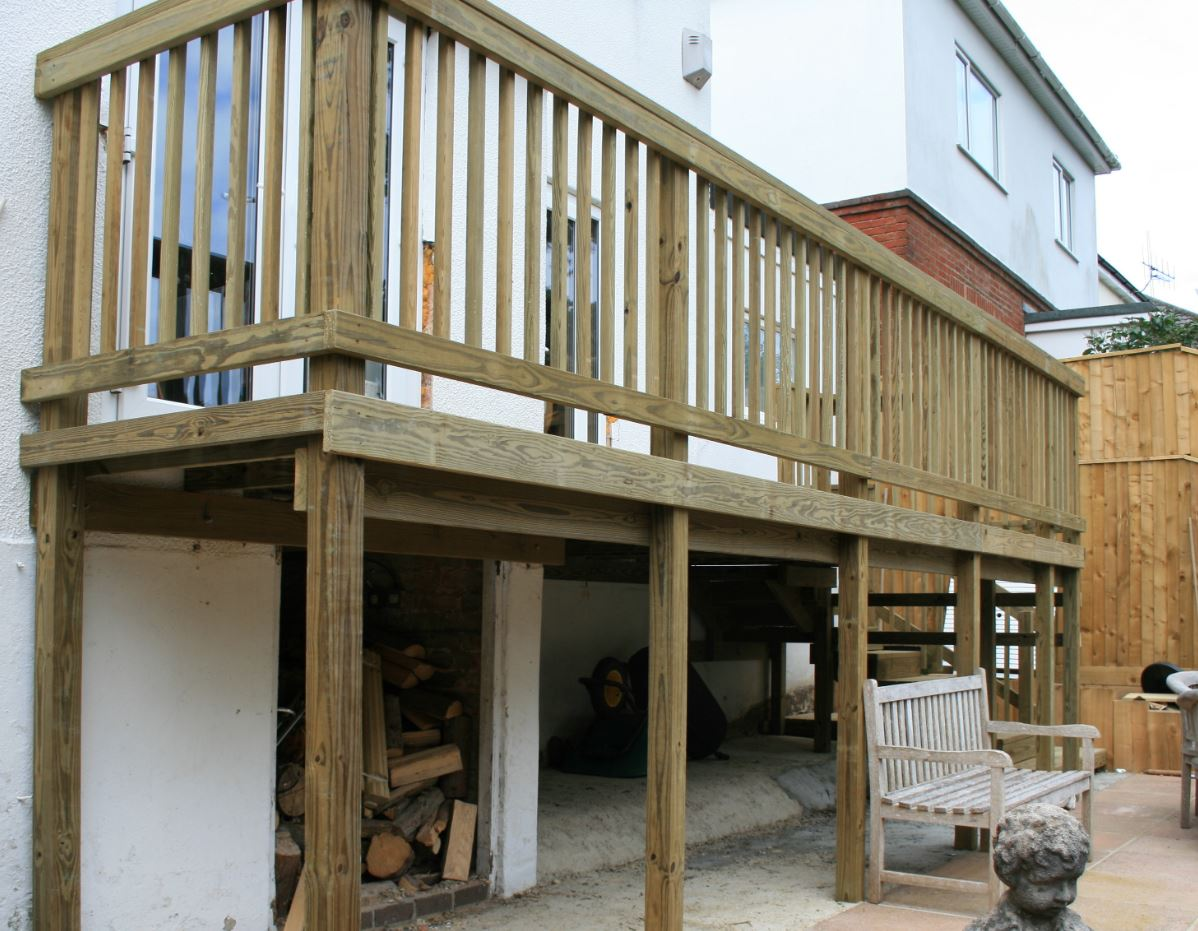 Raised deck extension