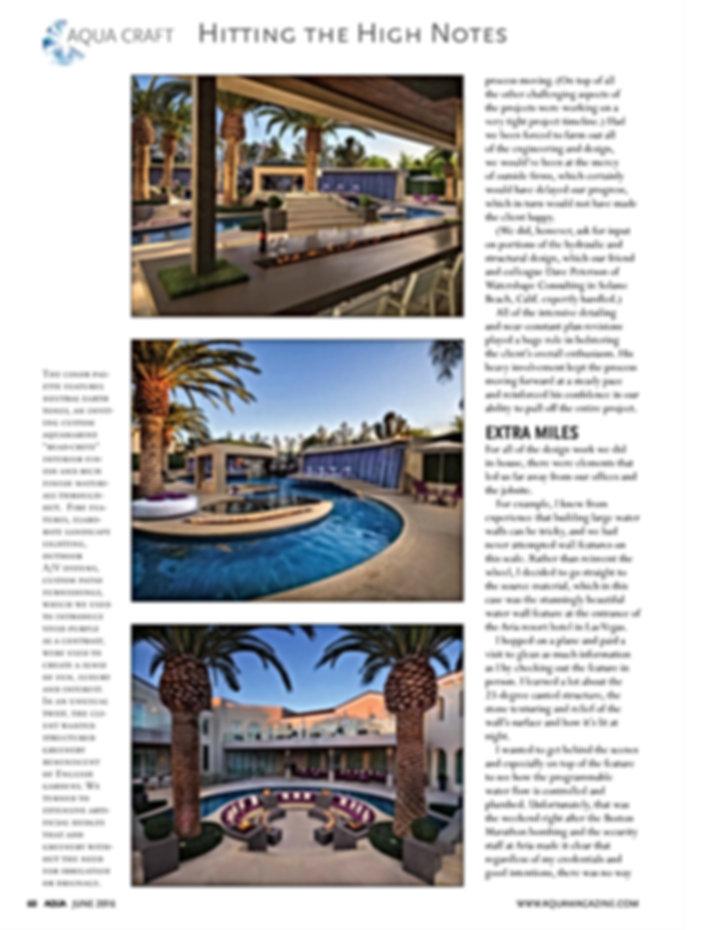 Page 1 Aqua Magazine - June 2016