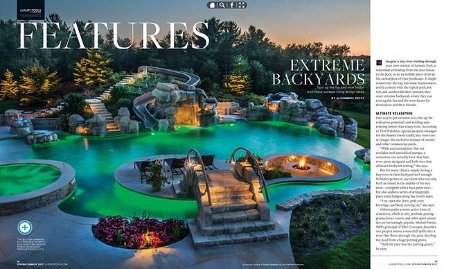 2 Luxury Pools Magazine - Spring/Summer 2017  Extreme Backyards