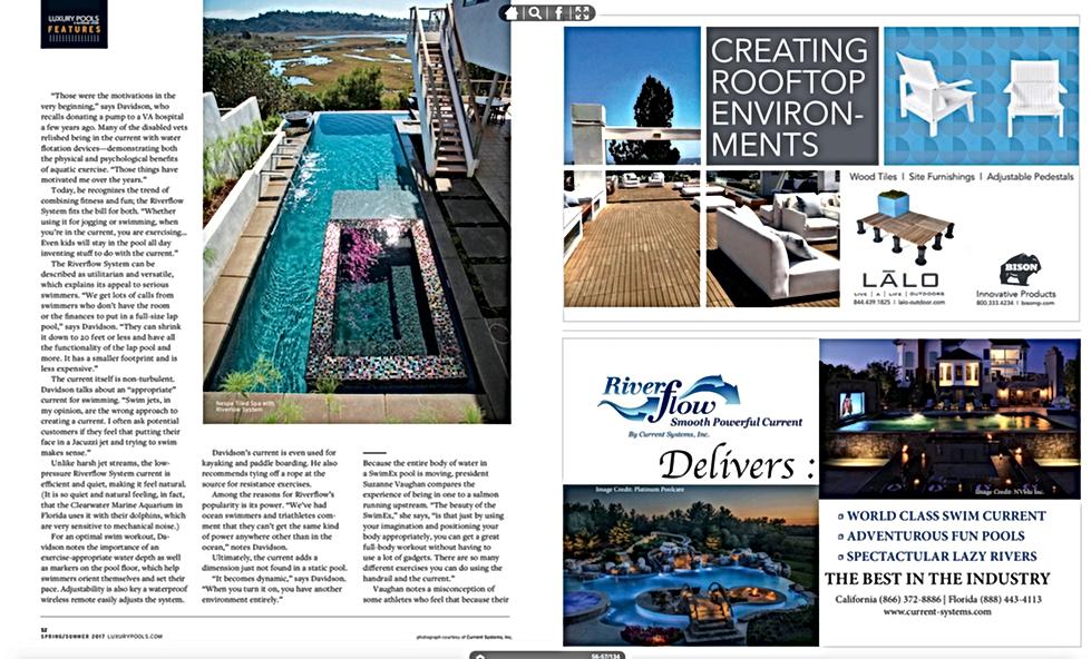 Page 3 Luxury Pools Magazine - Spring / Summer 2017 Swim Spas