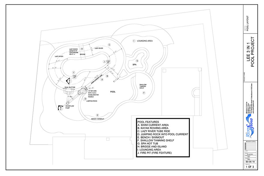 Plans for a swim jet and lazy river pump