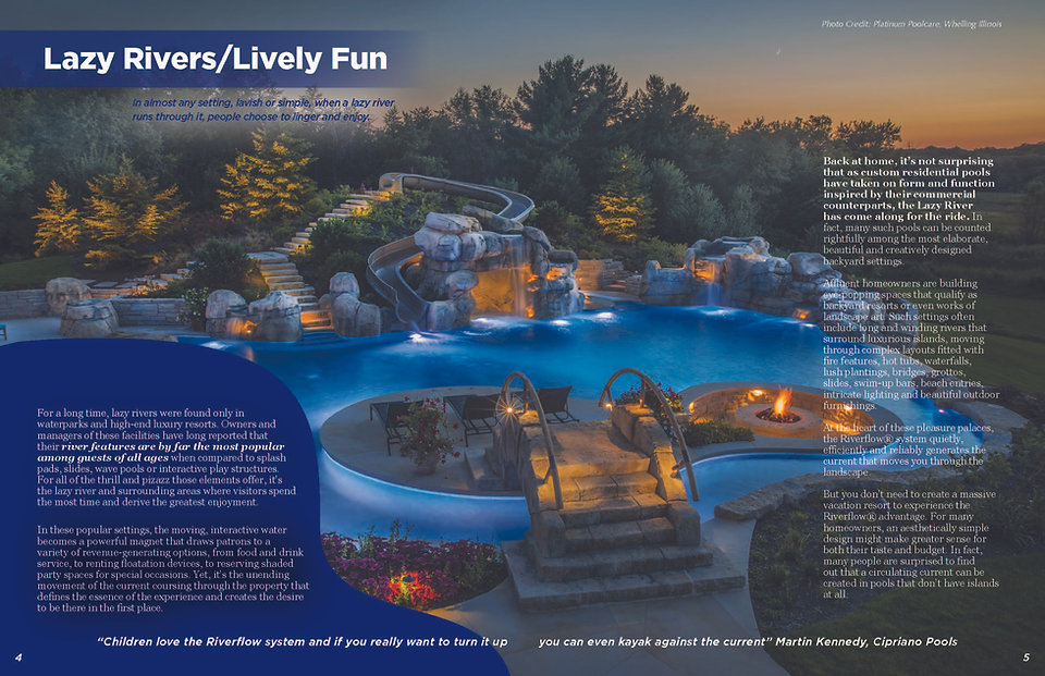image of lazy river pump with lazy river pool