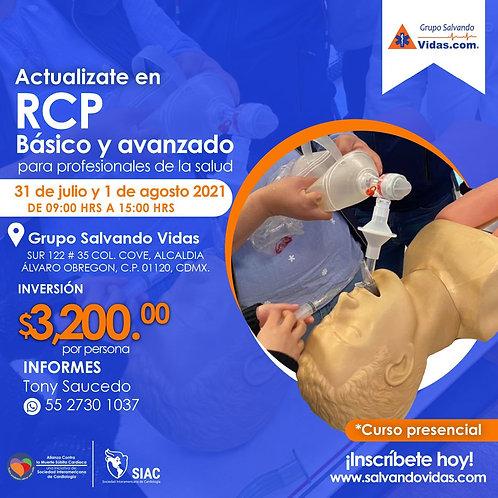 RCP Básico y Avanzado para profesionales de la salud