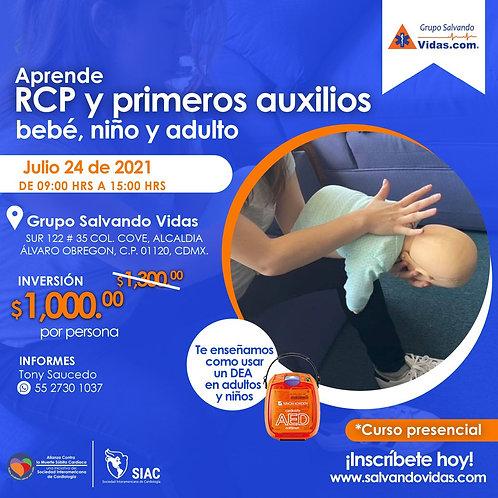 RCP básico y Primeros Auxilios