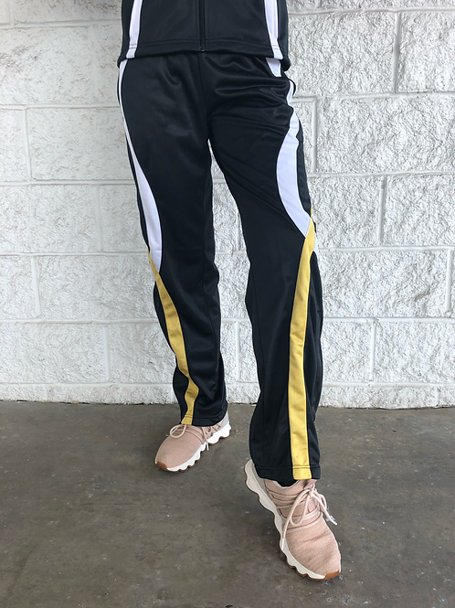 Gold/White Warm Up Pant