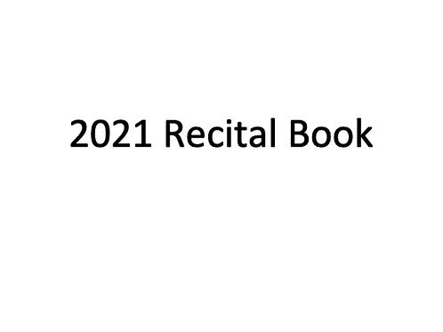 Recital Program/Yearbook