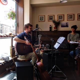 Performing at Claypath Deli