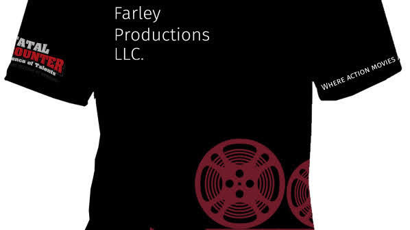 Farley Productions LLC. Black T-Shirt