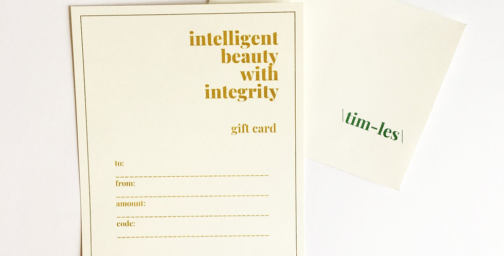 \tim-les\ glow gift certificate
