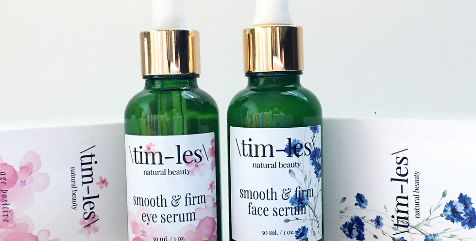 smooth & firm duo - face and eye serum