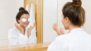home spa: coffee & vitamin E eye treatment