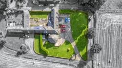 Birdseye drone photo