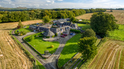 Drone photo of countryside property