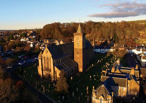 Drone Aerial Professional Property photography Dunblane Stirling Scotland Crawford Digital Media