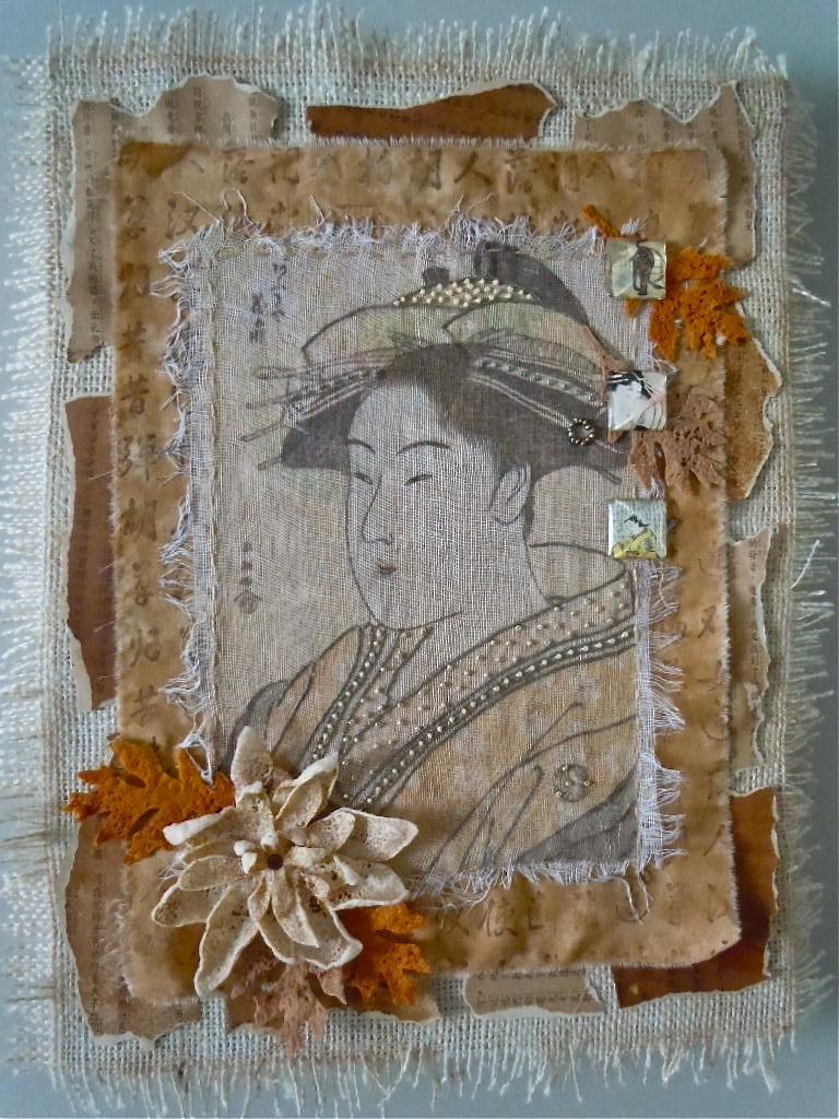 Completed Geisha artwork.