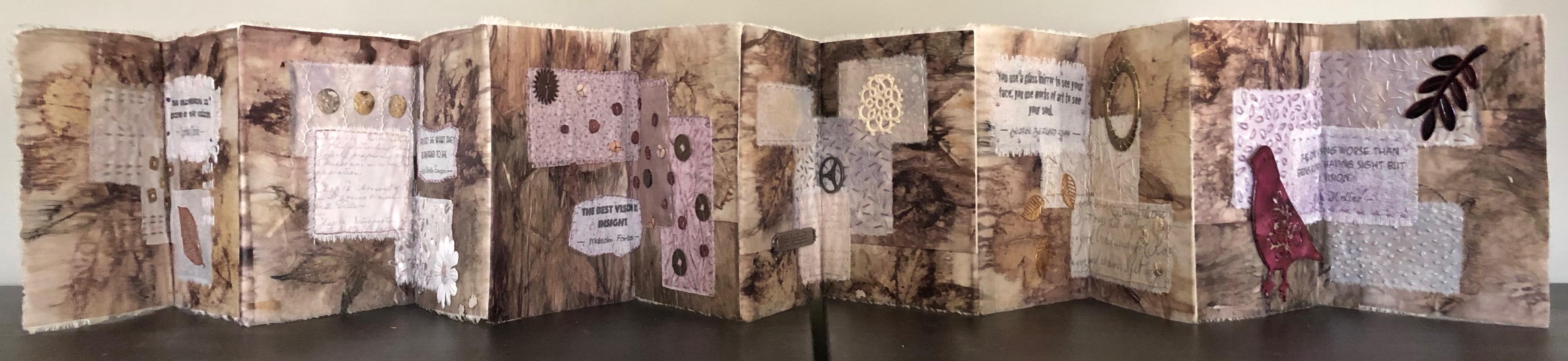 Eco Printed Concertina Book