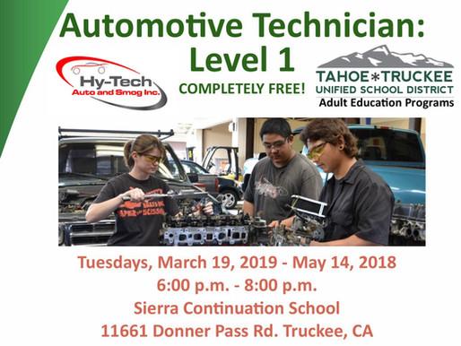Automotive Technician Class: Level 1