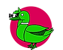 Greenduck Film dark pink Sun Logo - text