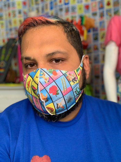 Loteria Single Layer Face Mask