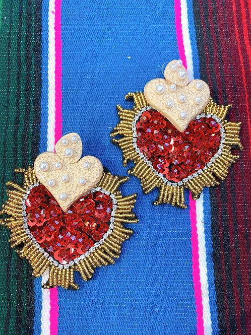 Sequin Corazon Earrings