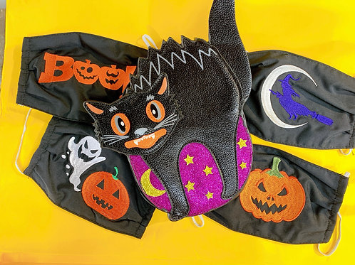 Embroidered Halloween Mask