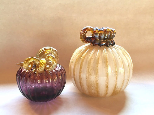 Purple and Gold Pumpkins