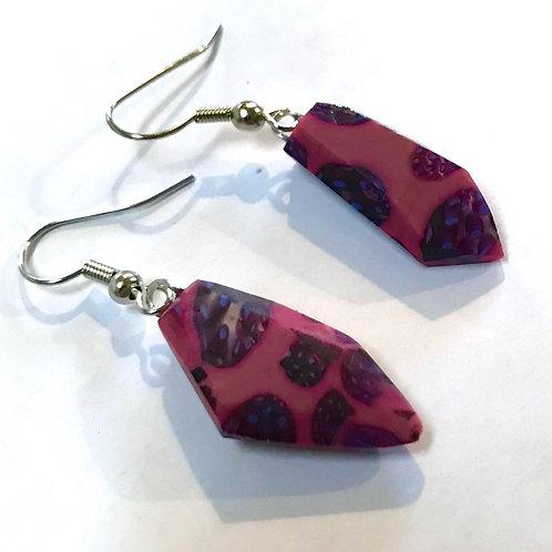 Pink Pomegranite Earring