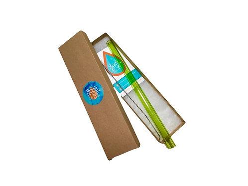 "Green 8"" Smoothie Straw"
