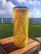 Yellow Stripe Vase