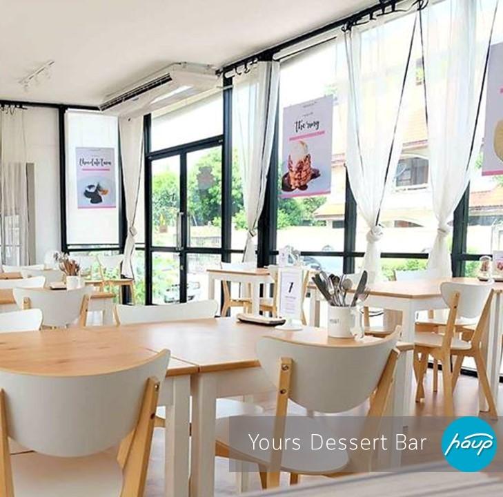 Yours Dessert Bar ที่ตั้ง มหิดล ศาลายา เวลาเปิด-ปิด : 11.00-21.00 Facebook : Yours Dessert Bar