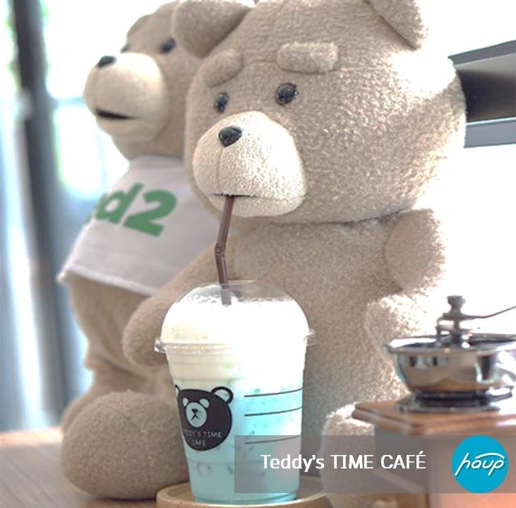 Teddy's TIME CAFÉ ที่ตั้ง ม.รังสิต เวลาเปิด-ปิด : 7:00 - 23:00 น. Facebook : Teddy's TIME CAFÉ