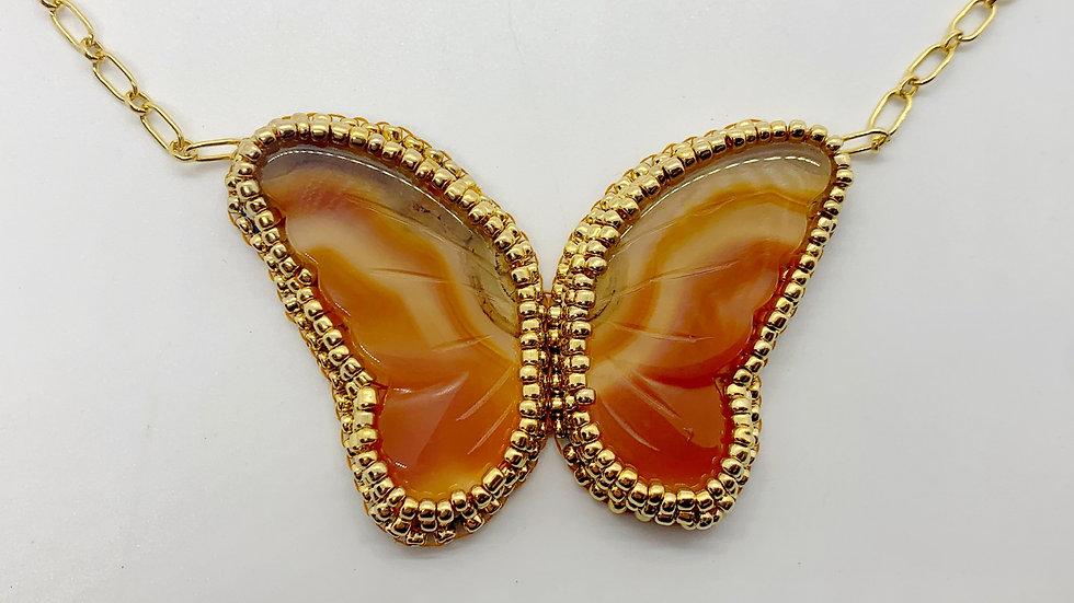 Carnelian Butterfly Necklace