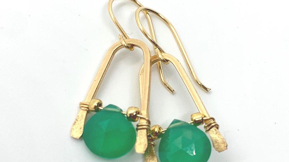 Green Tourmaline Wishbones